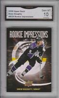 GMA 10 Gem Mint DREW DOUGHTY 2008/09 UD Upper Deck ROOKIE IMPRESSIONS SSP!