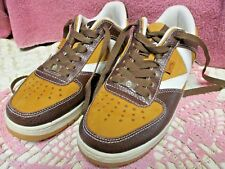 Yums Smores Sneakers Shoes Tan White Brown Leather Unisex Men 5 Women 6 1/2