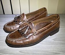 VTG Cole Haan Brown Men's US8D Handsewn  USA Tassel Kiltie Loafers Shoes