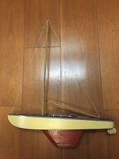 Vintage toy modellino legno barca vela sailboat petit voilier