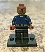 Genuine LEGO Super Heroes Minifigure - Nick Fury - Complete - sh056