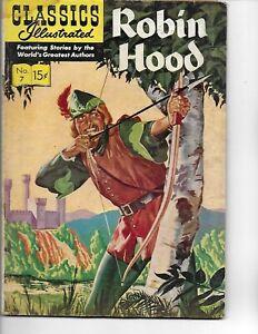 Classics Illustrated  #7  Robin Hood   hrn 129