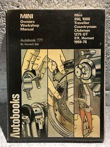 Classic Mini Owners Workshop Manual Autobooks 777