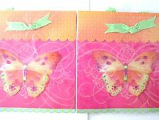 4 Papyrus Gift Bags Butterfly Orange, Pink design Brenda Walton Make Me an Offer