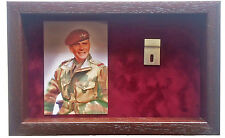 Large Para Medal Display Case With Photograph For 2 Medals