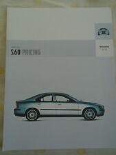 Volvo S60 Price list brochure Jul 2003