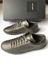 SAINT LAURENT Paris 417849 Classic Leder Sneakers/Schuhe khaki Gr. 41 NEU BOX