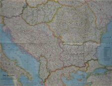 1962 Map BALKANS Serbia Croatia Bosnia Montenegro Hungary Bulgaria Slovenia