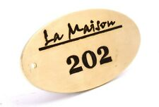 Personalised Solid Brass Key Fobs, Key Rings, Key Chains, Key Tags, Oval