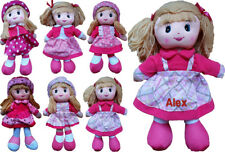 """Personalised embroidered 30cm 12"""" rag doll- gift, any name, kids, soft, cuddly"""