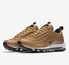 NIKE AIR MAX 97 OG QS ''GOLD METALLIC'' UNISEX TRAINERS ALL SIZE 884421-700