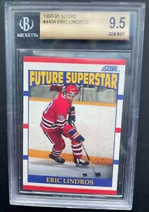 1990-91 Score Eric Lindros rookie graded BGS 9.5! NHL Hall of Famer! #440A