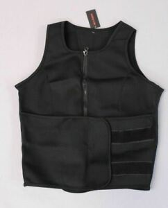 Perfect Sculpt Women's Sleeveless Weight Loss Sauna Sweat Vest Black MM1 XL NWT