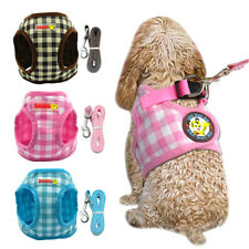 Small Dog Cat Vest Harness with Leash set Escape Proof Adjustable Kitten Vest