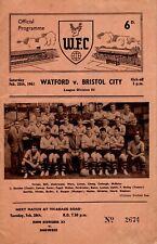 Watford v Bristol City programme, Division 3, February 1961