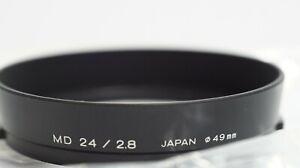 MINOLTA Lens Hood FOR MD 24mm f2.8 MD-III 49mm  Unused item ! Mint++ Condition !