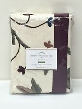 Pottery Barn Maybelle Embroidered Drape Curtain, 50x96, Cotton Lined, NEW