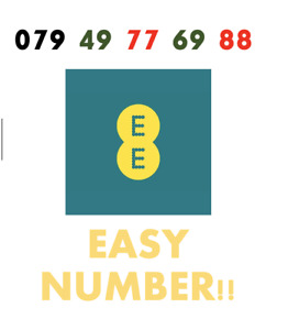 EE Network Trio Sim Card Easy Number Platinum Gold Vip Memorable 079 49 77 69 88