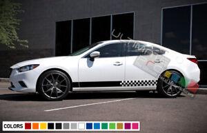 Sticker Decal Vinyl Side Door Stripes for Mazda 6 2013-2017 Lip Spoiler Sport