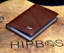 Braun Buffel Mens Leather Credit Card Holder Wallet Brown