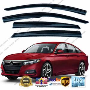 Fit For 2018-2021 Honda Accord MUGEN STYLE WINDOW VISOR RAIN/SUN VENT SHADE