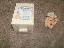 "Cherished Teddies 1991 #950432 ""Jackie"" Hugs & Kisses Figurine Free Shipping"