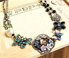 N468 FASHION FLOWER / BUTTERFLY / PEARL PENDANT & CHAIN NECKLACE