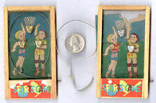 """'30's PRE WAR JAPAN B B BASKETBALL GAME HAND HELD + 1 """"as is"""" (a 2 for) **SALE**"""