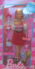 HOLIDAY SURPRISE BARBIE 2012 RED RUFFLE SKIRT FUR TARGET EXCLUSIVE NEW IN BOX