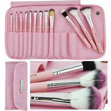 Beauties Factory 12pcs Kawaii Pink Makeup Brush Set with Gift AZ306U