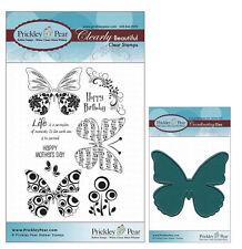 Prickley Pear Butterfly Clear Stamp and Die Set # 2 Butterflies