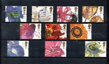 GB 1997  GREETINGS STAMPS - FLOWERS SG 1955 to 1964 VFU.