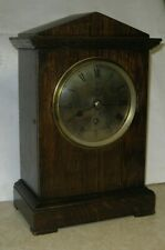 RAF ELLIOTT FUSEE OFFICER'S MESS MANTLE SHELF CLOCK ENGLAND 1938 WORKING R.A.F.