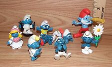 "Mixed Lot Of 9: Small Peyo ""The Smurfs"" Pvc Figurines Only *Read*"