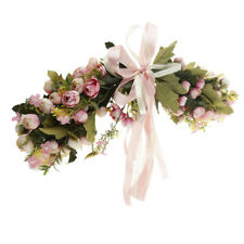 Artificial Silk Rose Leaves Flower Garland Door Lintel Home Wedding Decor