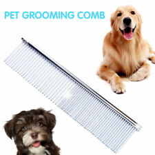 Pet Comb Dog Cat Double Row Teeth Brush Grooming Hair Stainless Handle Comb