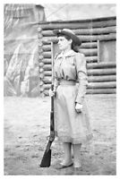 Silver Halide Photo Wild West Annie Oakley At Ambrose Park With Marlin 89
