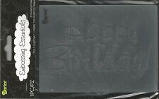 RETIRED   4.5 x 5.75 Inch Darice Embossing Folder HAPPY BIRTHDAY   B29*