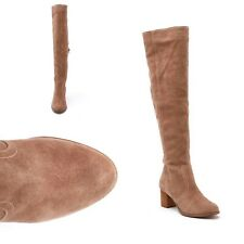 NIB $150 Coconuts by Matisse Sweetie Taupe Suede Over The Knee Boots Size US 10M
