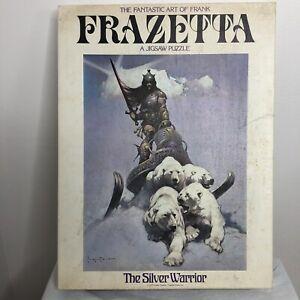 1970s Rare Frank Frazetta Puzzle The Silver Warrior In original box! Fantasy