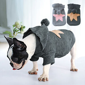 Cute Warm Pet Dog Jumper Knitwear Coat Puppy Cat Sweater Clothes Apparel Hoodie