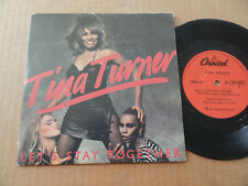 "DISQUE 45T DE TINA TURNER  "" LET'S STAY TOGETHER """
