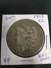 1893-CC $1 Morgan Dollar VF  RARE KEY DATE