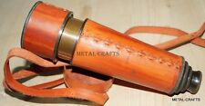 Vintage Kelvin Brass Telescope With Leather Carry Case Antique Hugh Spyglass