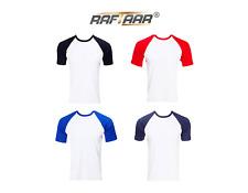 Unisex 100% Cotton Lightweight Baseball Raglan Short Sleeve T Shirts T-shirt Lot