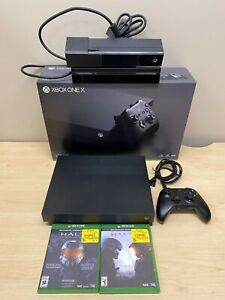 Microsoft Xbox One X 1TB Console - Black with Kinect and Halo Games