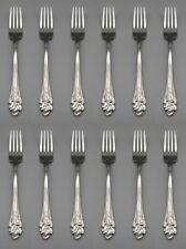 Set Of Twelve - Oneida Stainless Flatware Amaryllis Dinner Forks * Usa