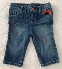 Guess Baby Girl Blue Denim Embroidered Jeans Size 24 Months/2 Toddler