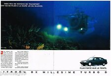Publicité Advertising 1991 (2 pages) Citroen BX Millésime Turbo Diesel