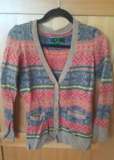 Ladies C Wonder Wool Blend Button Up Sweater Size M